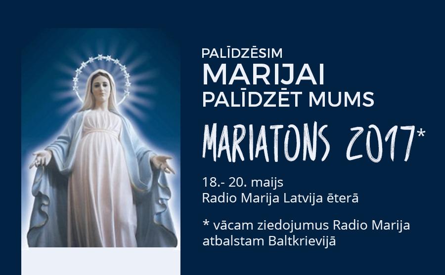 Mariatons Radio Marija ēterā no 18. līdz 20. maijam